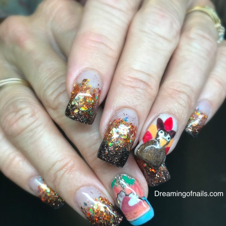 5 Fun Thanksgiving Nail Art Ideas Page 4 Of 4 Dreaming Of Nails
