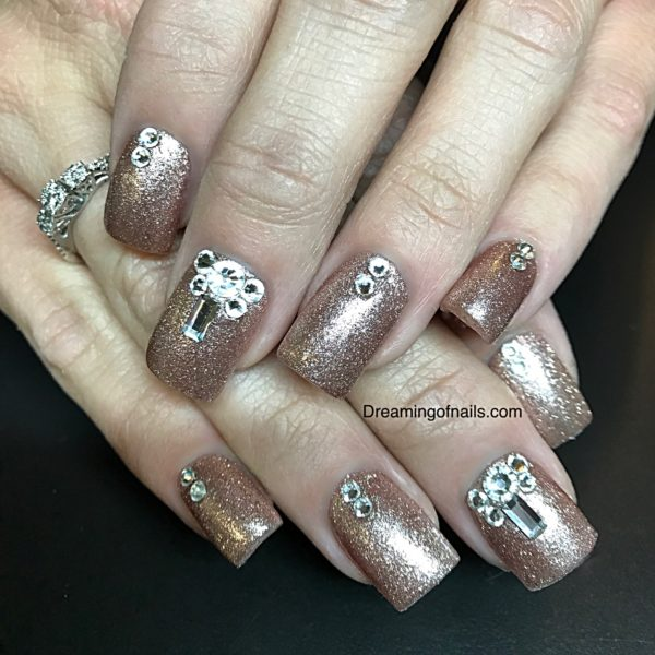 8 Gorgeous January nail designs you must see! - Swarovski Crystal Nails Archives - Dreaming Of Nails