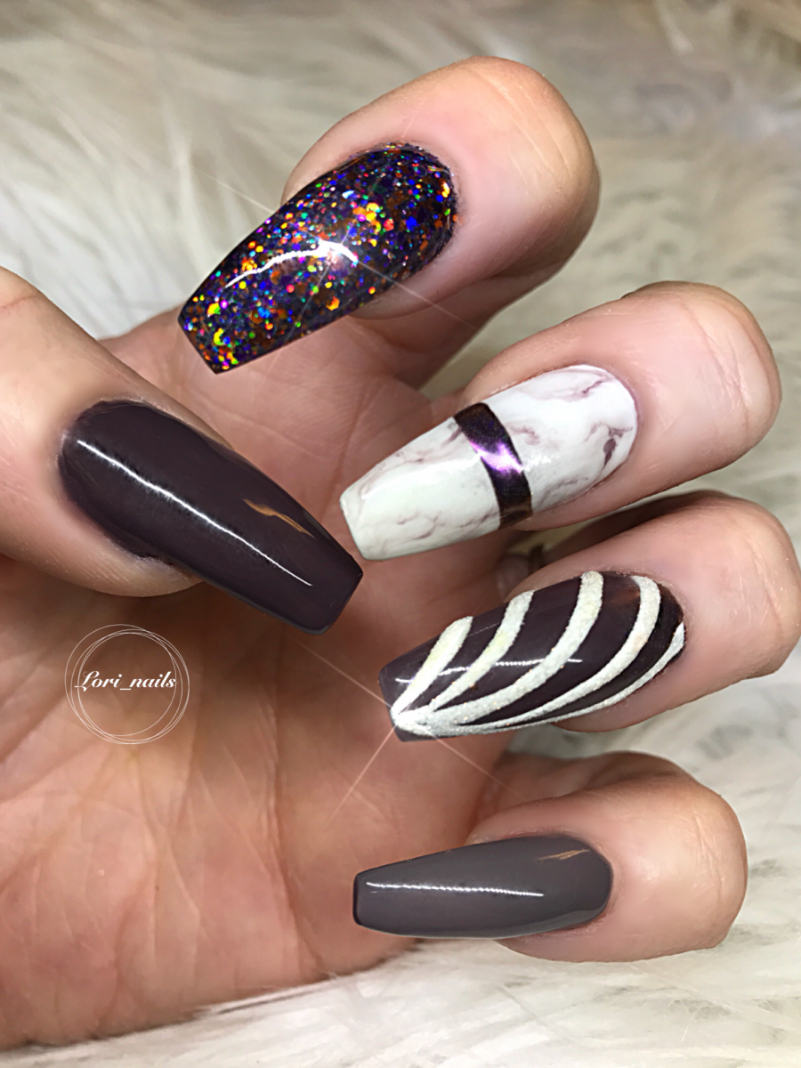 fall-nail-art-with-glitter-marble-and-sugared-effects