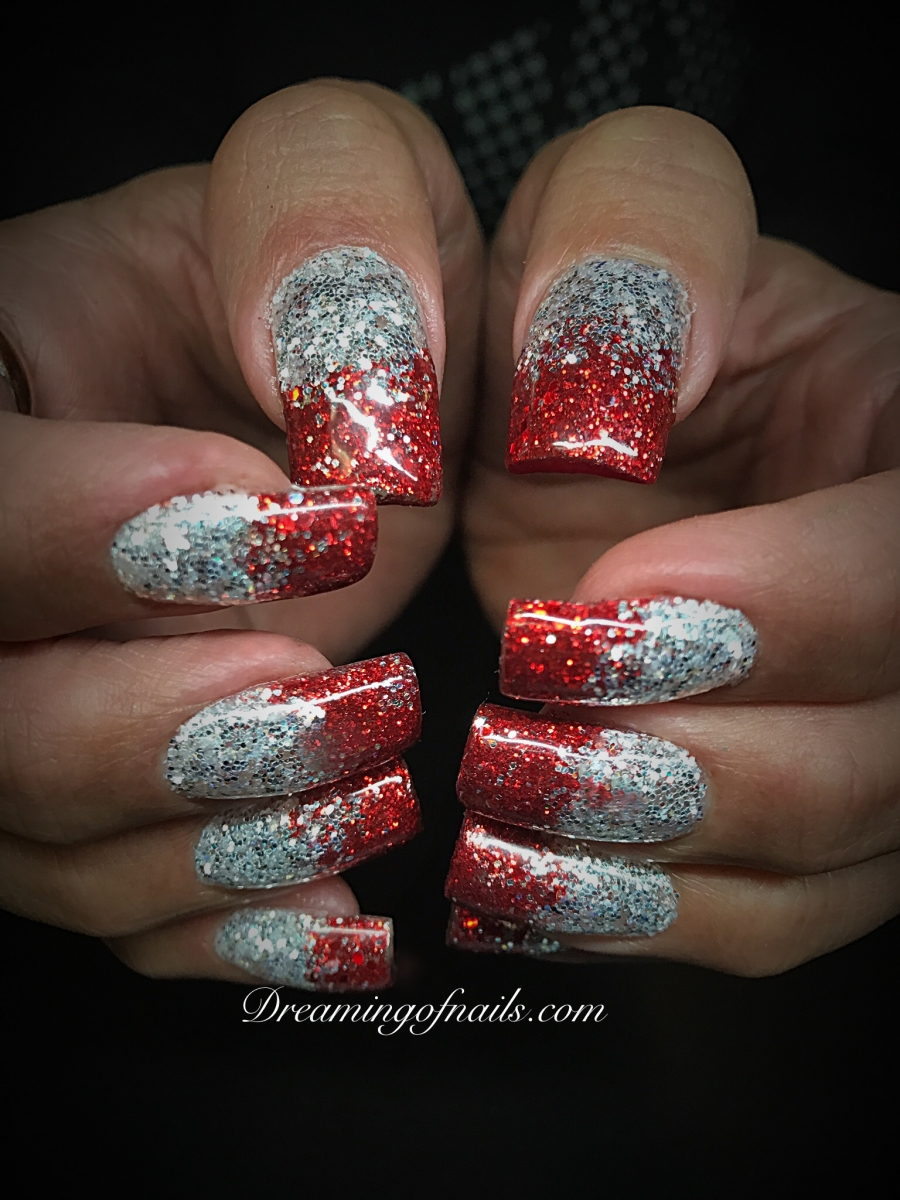 Red Ombre Nails Christmas.Christmas Nails Dreaming Of Nails